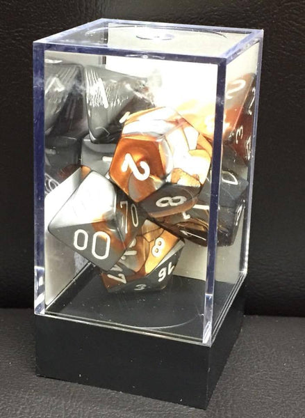 Chessex Gemini Poly Dice Set Copper Steel