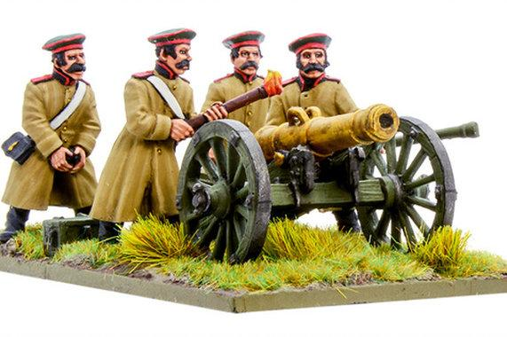 Crimean War: Russian foot artillery with 12-pdr cannon