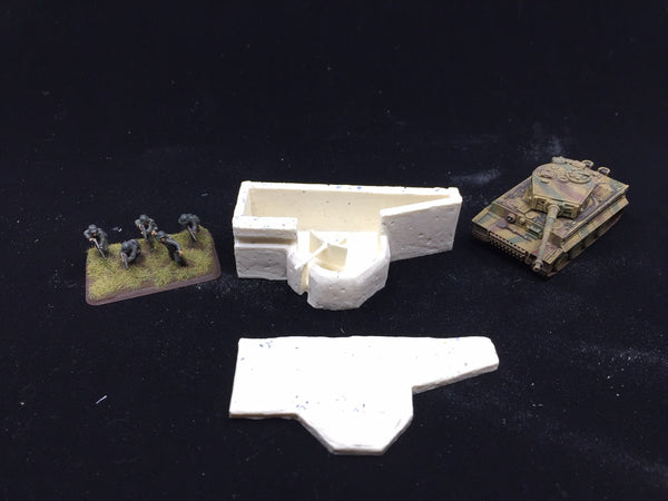 Defilade Bunker with 5cm KwK Gun (15mm scale)