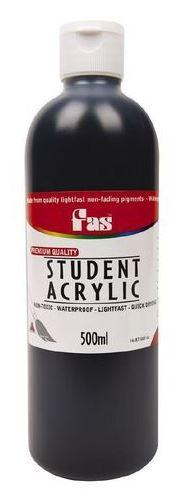 FAS Student Acrylic 500ml Black