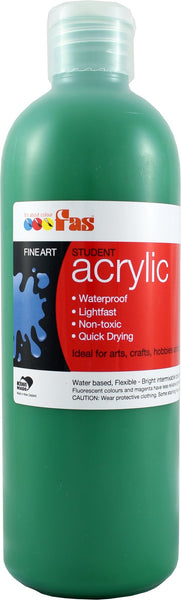 FAS Student Acrylic 500ml Green Deep