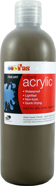 FAS Student Acrylic 500ml Raw Umber