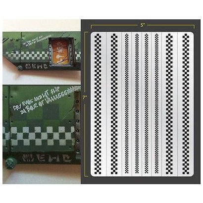 Airbrush Stencil: Checker Pattern