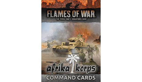FOW Afrika Korps Command Cards