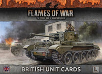 FOW British Unit Cards