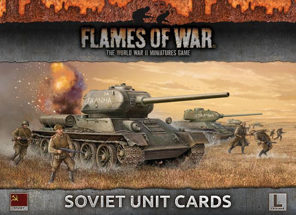 FOW Soviet Unit Cards