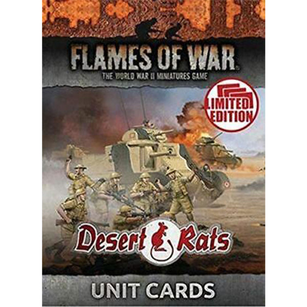 Desert Rats Unit Cards