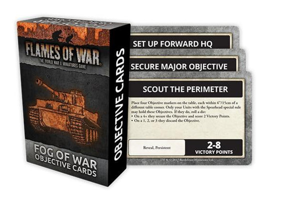 FoW Fog or War Objective Cards