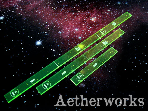 Range Ruler Pack: Length 1, 2 & 3 (Flourescent Green)