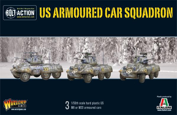 US Armoured Car Squadron (3 M8/M20 Greyhound Scout Cars)