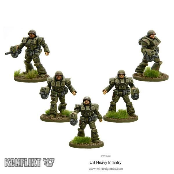 US Heavy Infantry (Blister pack)