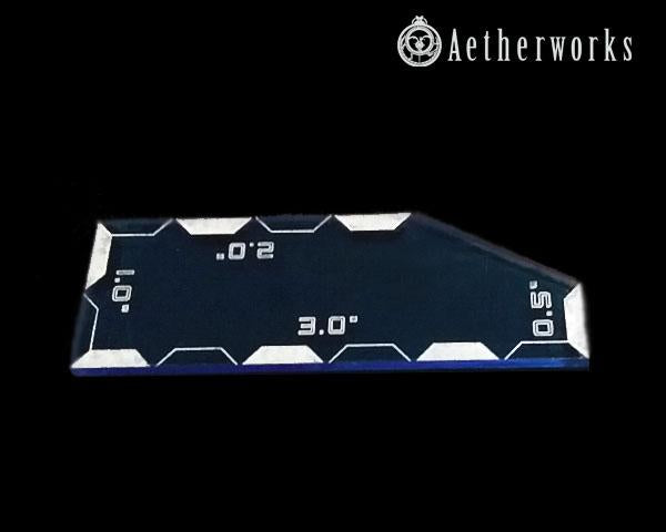 WH40K (8th Ed) Measure Tool (Blue)