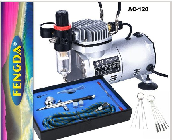 Std Mini Compressor w/gun; kit and Airbrush