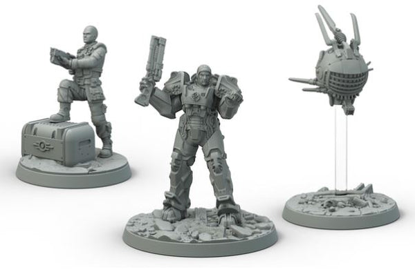 Fallout: Wasteland Warfare Brotherhood of Steel Knight-Captain Cade and Paladin Danse