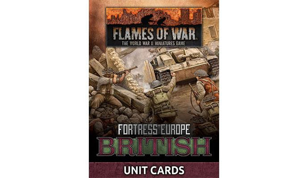 British Unit Cards - Fortress Europe