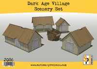 Dark Age Village Scenery Set J026