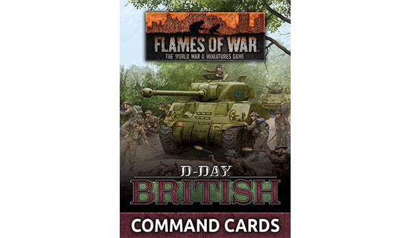 """D-Day British"" Command Cards"