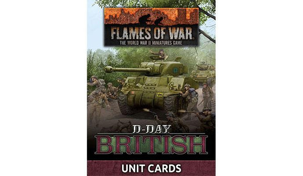 """D-Day British"" Unit Cards"