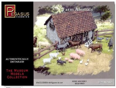 1/72 Farm Animals (64 Asst.)
