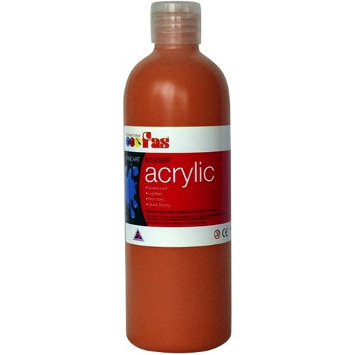 FAS Student Acyrlic 500ml Red Oxide