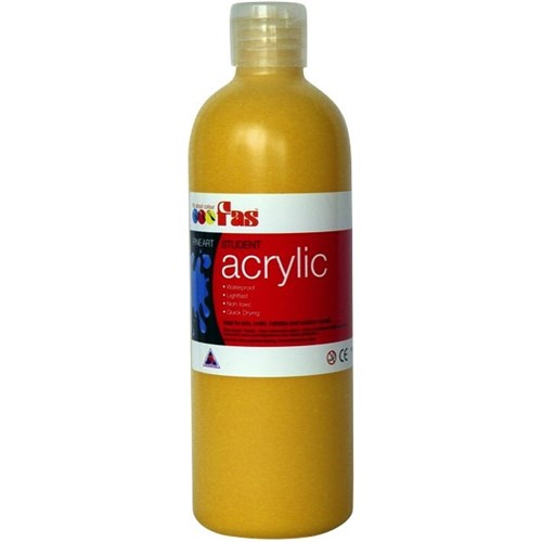FAS Student Acrylic 500ml Yellow Oxide