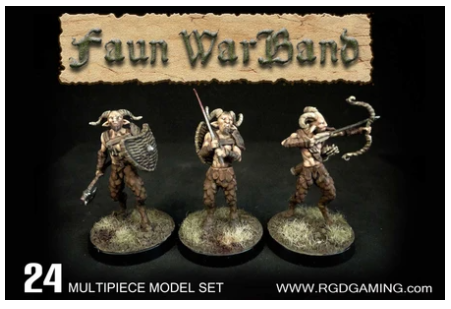 Fauns - 24 x 28mm Classic Fantasy Figures