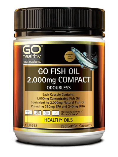 GO Fish Oil 2000mg Odourless 230cap