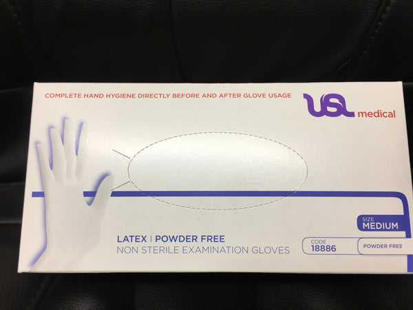 USL Exam Glove Latex PF M 100