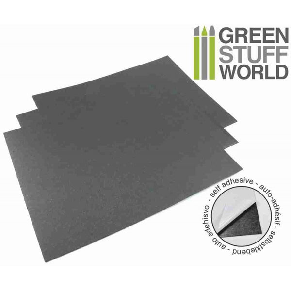 Steel Rubber Sheet A4 0.9mm Self Adhesive