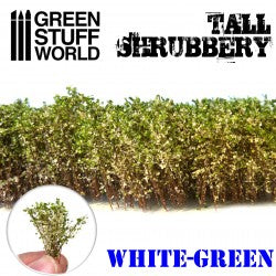 Tall Shrubbery - White / Green