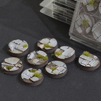Temple Bases Round 32mm x 8