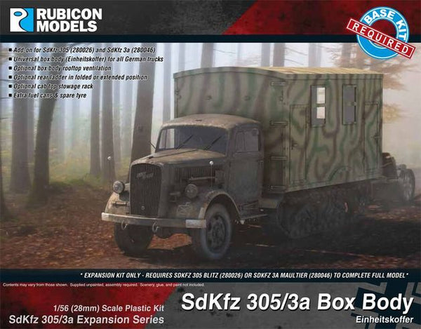 1/56 SdKfz 305/3a Expansion - Box Body (Expansion Kit)