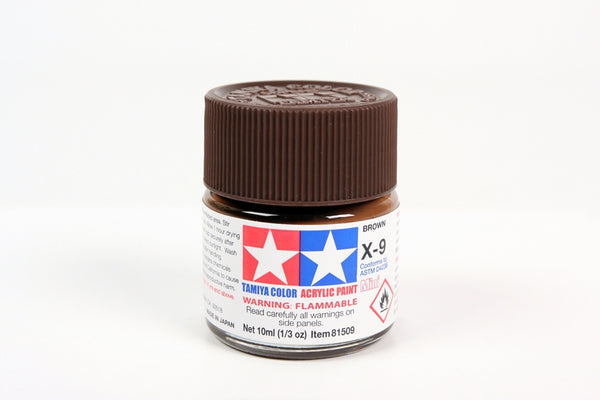 X9 Acrylic Brown 10ml