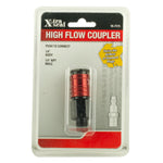 "High Flow Coupler - 1/4"" Body, 1/4"" NPT M"