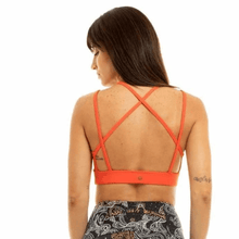 Load image into Gallery viewer, Spider Eco Bra - Orange - Ipanema