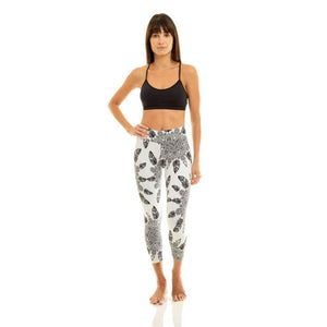 White Leggings with Black Print - Ipanema
