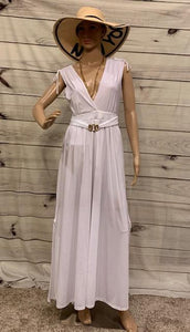 Long White Dress with Lining - Ipanema