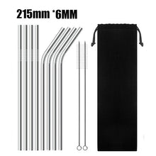 Load image into Gallery viewer, 4/8Pcs Reusable Drinking Straws