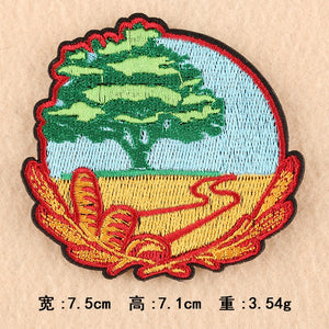 1 PCS Nature Forest Patches