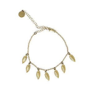 Tiny Feather Anklet