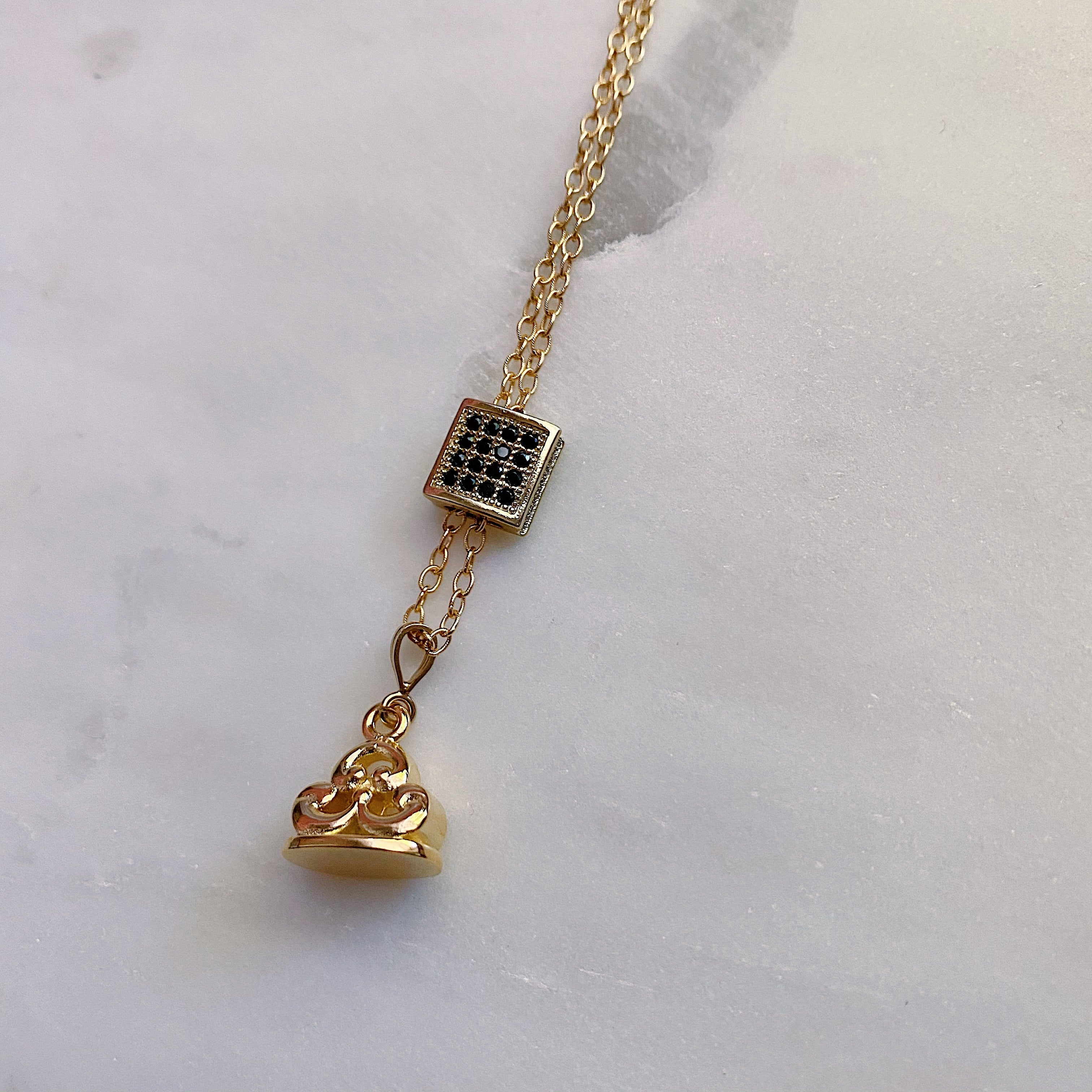 Mary Grace Slide and Fob Necklace