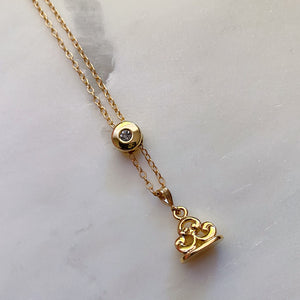 Elizabeth Slide and Fob Necklace