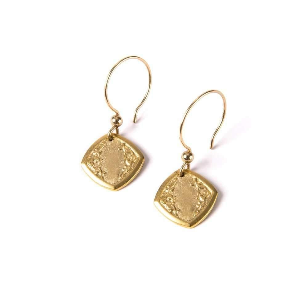 Art Deco Cufflink II Earrings