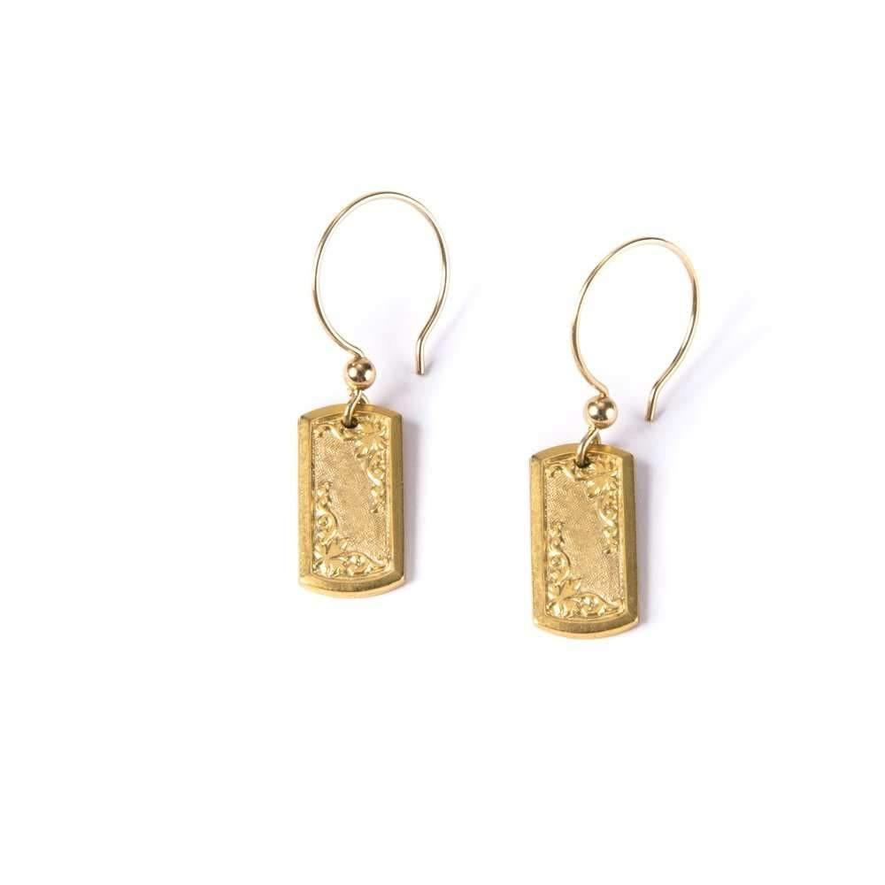 Art Deco Cufflink V Earrings