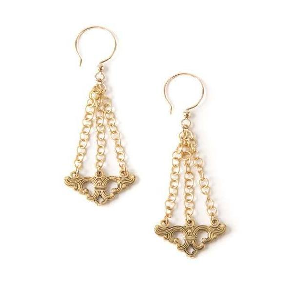 Art Deco Drop I Earrings