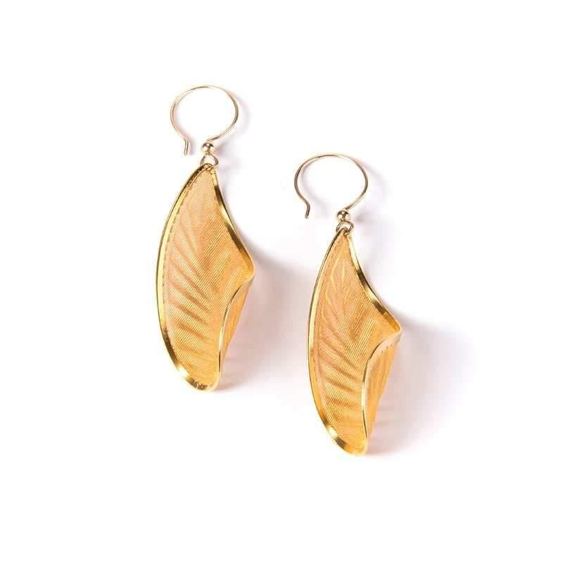 Art Deco Feather II Earrings