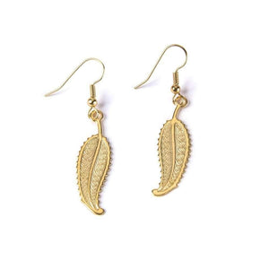 Art Deco Feather I Earrings