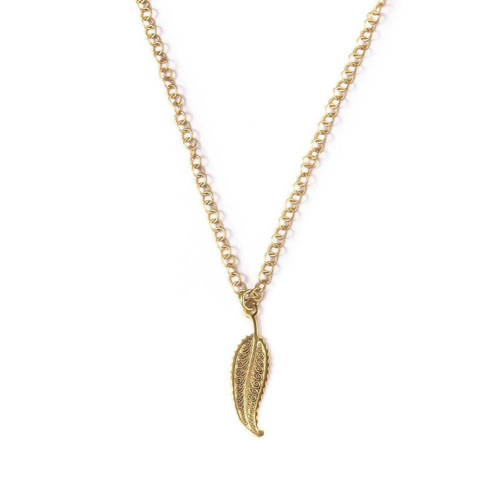Art Deco Feather I Necklace