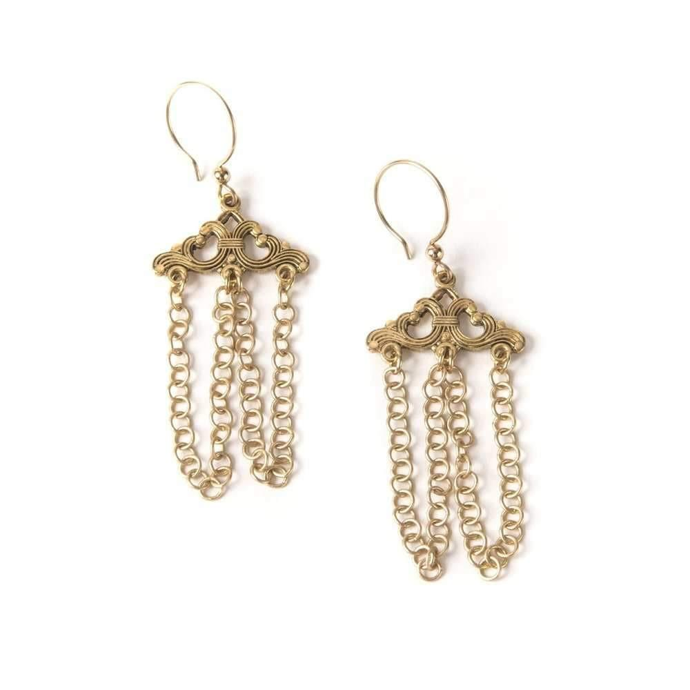 Art Deco Scroll I Earrings