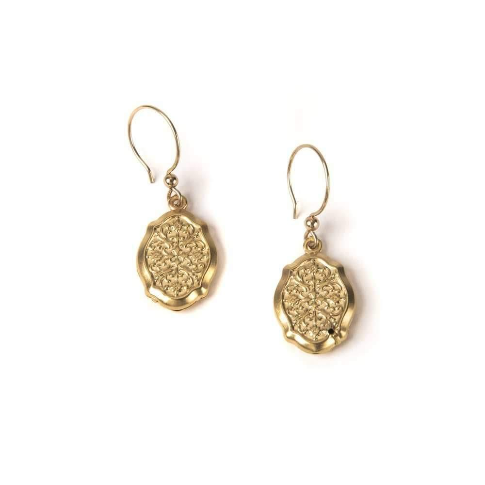 Art Deco Small Crest I Earrings